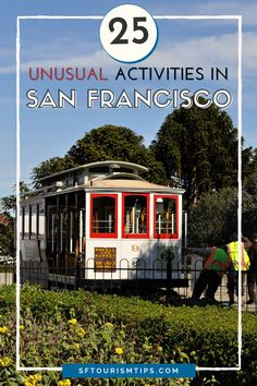 Everyone knows that San Francisco is not your typical big city. Instead of all of the top attractions, I also wanted to give you the inside scoop on some of my favorite unusual things to do here. You can ride in a traditional cable car (only ones in the world still operated in this way), walk or drive down one of the crookedest streets in the world and so much more! California Attractions, Lombard Street, Road Trip Adventure, San Francisco Travel, Unusual Things, Greatest Adventure, Cool Places To Visit, Travel Usa, Things To Do