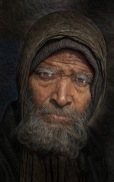 ♂ Man portrait face of a Bearded Man by Stephen Wallace