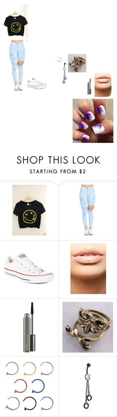 """nirvana concert"" by cassie-marie-1299 ❤ liked on Polyvore featuring Converse, MDMflow, MAC Cosmetics and Bling Jewelry"