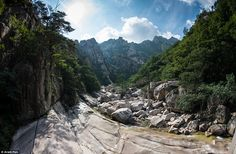 A stunning view from Mount Kumgang, a 1,638-metre-high mountain in Kangwon-do, North Korea...