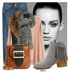 """""""Untitled #917"""" by kthrin on Polyvore featuring Trowbridge, 7 For All Mankind, MANGO, River Island and Burberry"""