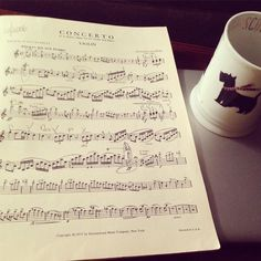 Enough music regeneration for now gotta get the strength in my hands and arms fully charged.  #Dvorak #concerto #violin #violon #violine #violino #violinist #violinconcerto #sheetmusic #violinista #music #musician #classicalmusic #classicalmusician #scottiemug #Starbucks #coffeegram #coffee #instagood by dchazzy