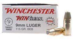Winchester Bulk 9mm Ammo 115gr