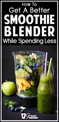 After reading this I decided to invest in a good smoothie blender because I know I'm going to make use of it as I make smoothies every day for my breakfast. Best Smoothie Blender, Best Green Smoothie, Healthy Green Smoothies, Smoothie Prep, Fruit Smoothie Recipes, Smoothie Ingredients, Make Ahead Smoothies, Good Smoothies, Meal Replacement Shakes