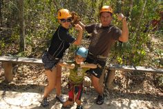 Feeling powerful and full of adrenaline, done the zip lines and ready to rock the rappel at Aventuras Mayas!