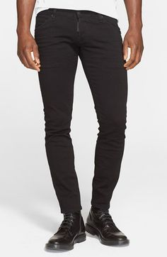 Dsquared2 'Clement' Skinny Jeans (Black) available at #Nordstrom