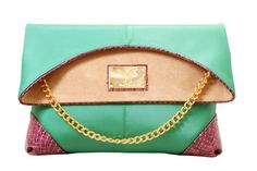 Cher Clutch  Forest Green & Violet Python  https://www.facebook.com/pages/HariTHanD/214284275290972