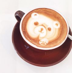 Latte bear!  *fact other than bunnies, little bears are my favorite. Grizzly bears, panda bears, red pandas, polar bears...