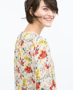 Image 5 of FLORAL PRINT BLOUSE from Zara