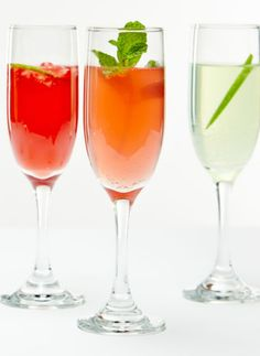 A mixture of cocktail recipes some with fruit juice and others, blends of different alchoholic beverages for Purim.
