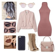 """""""Untitled #179"""" by courtneylfoxwelll on Polyvore featuring Balmain, Le Specs, Tory Burch and Alexander McQueen"""