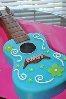 Guitar Cake w/out the flowers - my little niece wants a guitar cake for her birthday. Yes ma'am!