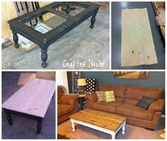 nice before and after coffee table