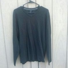 Comfy Black Oversized Sweater Soooooo comfy. It is a woman's medium but is meant to fit big. 80% cotton and 20% nylon. Made in China. Alfani Sweaters