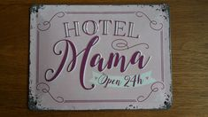 Iedere moeder zal het beamen, het is net een hotel. Natuurlijk verzorgen we ze graag. Daarom verdient mama dit mooie bordje! Net, Home Decor, Decoration Home, Room Decor, Home Interior Design, Home Decoration, Interior Design