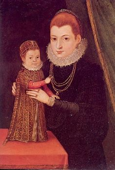 Mary, Queen of Scots and her son, James I. This portrait by an unknown artist was almost certainly a wholly imagined creation. The resemblance to the real Mary Stuart so tantalizingly glimpsed in the nearly photographic sketches of Clouet is slight. Mary Queen Of Scots, Queen Mary, Queen Elizabeth, Tudor History, European History, British History, Asian History, Full History, French History