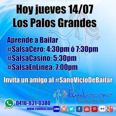Hoy jueves 14 de julio aprende a bailar #Salsa #SalsaCasino y #SalsaEnLinea  Invita un amigo al #SanoVicioDeBailar  #Rumbacana #BailaParaDivertirte