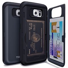 Galaxy S6 Case, TORU® [Shockproof] Samsung Galaxy S6 Credit Card Case [CX Pro] [Blue] Protective Hybrid Kickstand Case with Card Slot Wallet for Galaxy S6 - Metal Slate (21S6TCXP-MS), http://www.amazon.com/dp/B00VE9EMCI/ref=cm_sw_r_pi_awdm_.qnAvb103461D