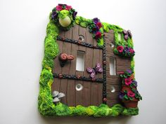 Fairy Door Light Switch Cover by DawnsClayFantasy on Etsy