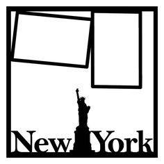 New York Scrapbooking Die Cut Overlay
