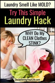 How To Get Sour SMELL Out Of Clothes & Towels - Sour Laundry Remedy Smelly Laundry, Smelly Towels, Towels Smell, Laundry Hacks, Laundry Room, Laundry Solutions, Smelly Washing Machines, Washing Machine Smell, Washer Smell