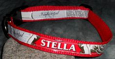 Adjustable Dog Collar from Stella Artois Beer labels by squigglechick, $18