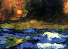 Sea with Yellow Sun Emil Nolde - 1938-1945