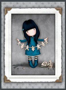Muñeca Gorjuss panel de tela por Tejidosaloloco en Etsy
