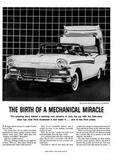 1957 Ford Fairlane Skyliner - The Birth of a Mechanical Miracle