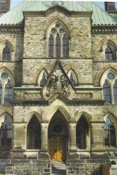 Parliament Buildings, Ottawa, Ontario www.stephentravels.com/top5/entryways