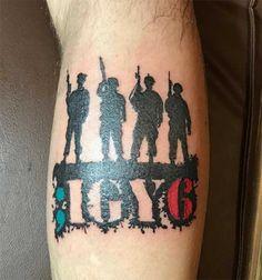 Military Tattoos Design idea For Men Igy6 Tattoo, Patriotische Tattoos, Army Tattoos, Tribal Arm Tattoos, Ribbon Tattoos, Military Tattoos, Arm Tattoos For Guys, Future Tattoos, Arm Band Tattoo