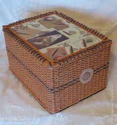 Поделка изделие Плетение Большие коробки+  Трубочки бумажные фото 2