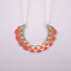 RN Lace Necklace (sterling silver/resin)