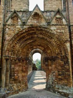 Medieval Portal, Jedburgh, Scotland photo via michael. I'd like to actually wander around Jedburgh, since we ran out of time and only got to see it. Oh The Places You'll Go, Places To Travel, Places To Visit, Chateau Moyen Age, Vila Medieval, Medieval Castle, England And Scotland, Scotland Uk, Scotland Travel