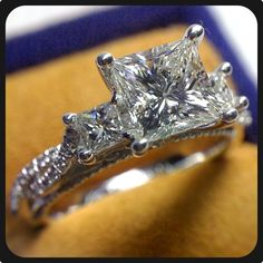How about a three-diamond engagement ring? Here is our jaw-dropper Venetian-5013P