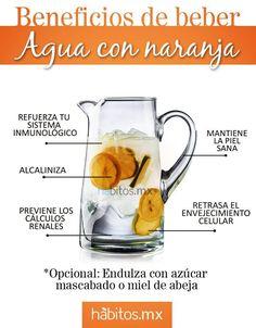 ¡Beneficios de beber agua con naranja!