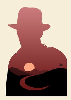 Indiana Jones Silhouette Posters (Inspired by Olly Moss) by A-dum: