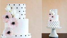 Wafer paper tulips and hearts by Erin Gardner of The Wild Orchid Baking Co. as featured on Cake Geek Magazine. Wafer Paper Flowers, Wafer Paper Cake, Sugar Flowers, Cake Design Inspiration, Wedding Cake Inspiration, Beautiful Wedding Cakes, Beautiful Cakes, Amazing Cakes, Tulip Cake