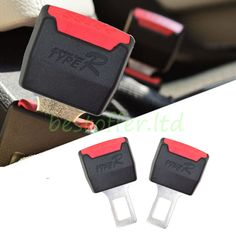 2 Pcs Car Seat Belt Clip Buckle Extender Support Alarm Safety Stopper Canceller