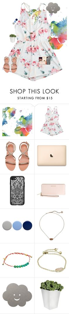 """•✈️•"" by mackenzielacy814 on Polyvore featuring WALL, Casetify, Michael Kors, Burberry, Kendra Scott, Alex and Ani, LIND DNA, mrlloves and mrlgoestonyc"