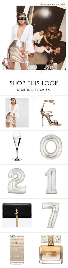 """""""New Year Party with Niall and friends"""" by fxrever-isnt-for-everyone ❤ liked on Polyvore featuring Rare London, Riedel, Yves Saint Laurent, Casetify, Givenchy, Laura Geller and NiallHoran"""