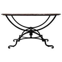 19th c. French Marble Top Console Table