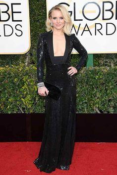 10 Golden Globes Dresses That Gave Us Heart Eyes via @PureWow.  Kristen Bell in Jenny Packham