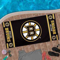 #BostonBruins Logo #BeachTowel - Black $19.95 http://www.newenglandusa.com/Boston-Bruins/boston-bruins-bed-bath.php
