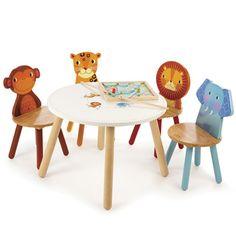 Safari Animal Table, Beanbags and Chairs, Nursery