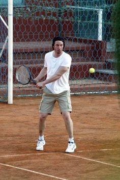 Keanu playing tennis