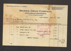 Bill Receipt Delectable 1941 Billhead Receipt Bill Mail Pouch Tobacco Wheeling West Virginia .