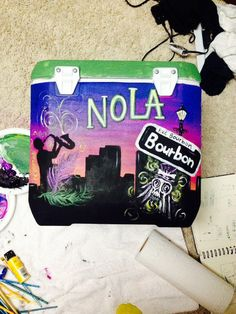 Hand Painted Coolers by dreamsawayfornow on Etsy