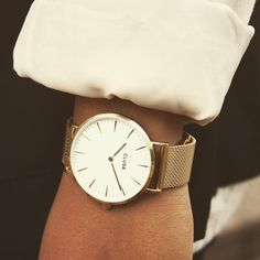 Introducing our new Mesh collection, elegant and refined in gold, silver, black. @clusewatches