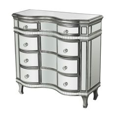 Sterling Curved Mirror Chest